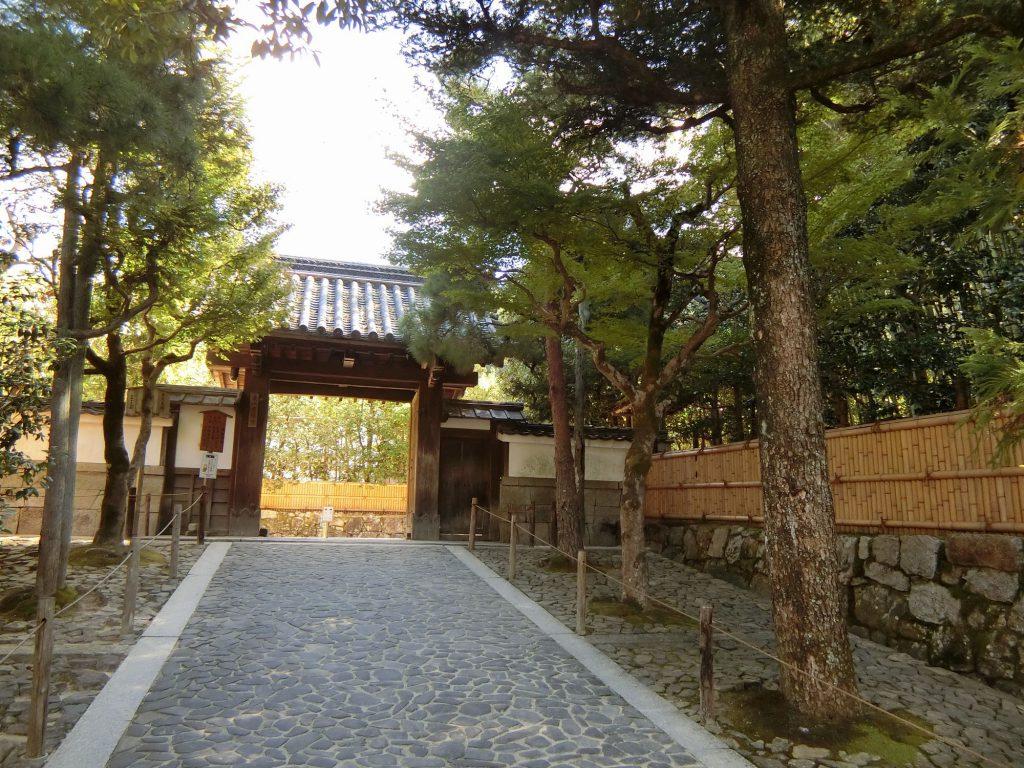 銀閣寺へのアプローチ