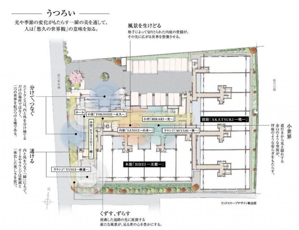 「ザ・パークハウス 京都鴨川御所東」の共用部の企画のポイント