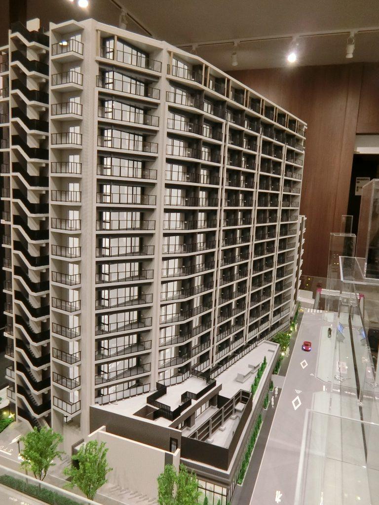 「シティハウス武蔵野」の完成予想模型
