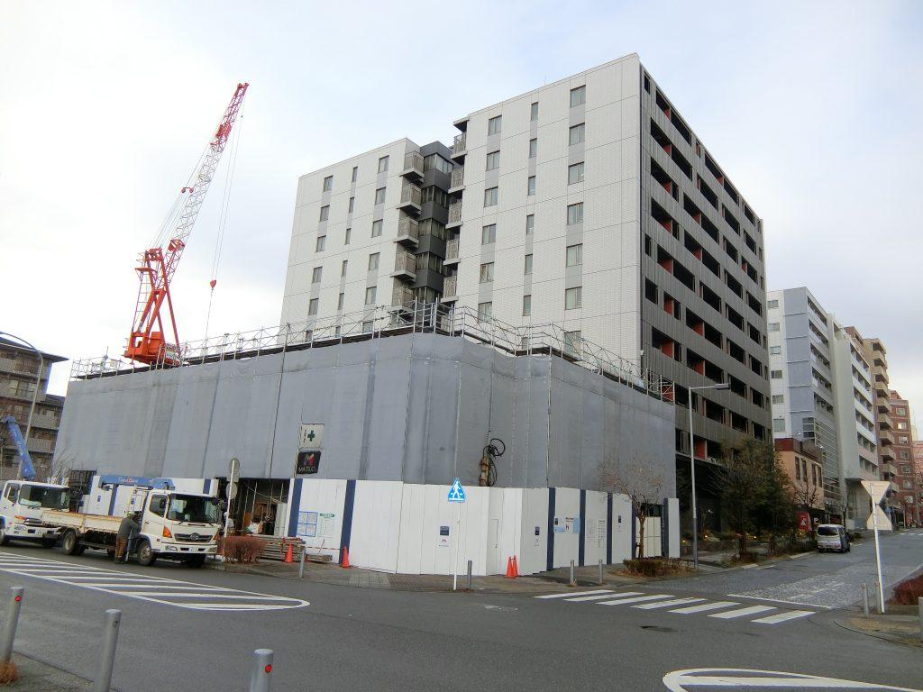 「グランドメゾンセンター北フロント」の建設地(2021年2月撮影)