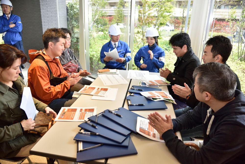 マンション防災訓練でのワークショップ