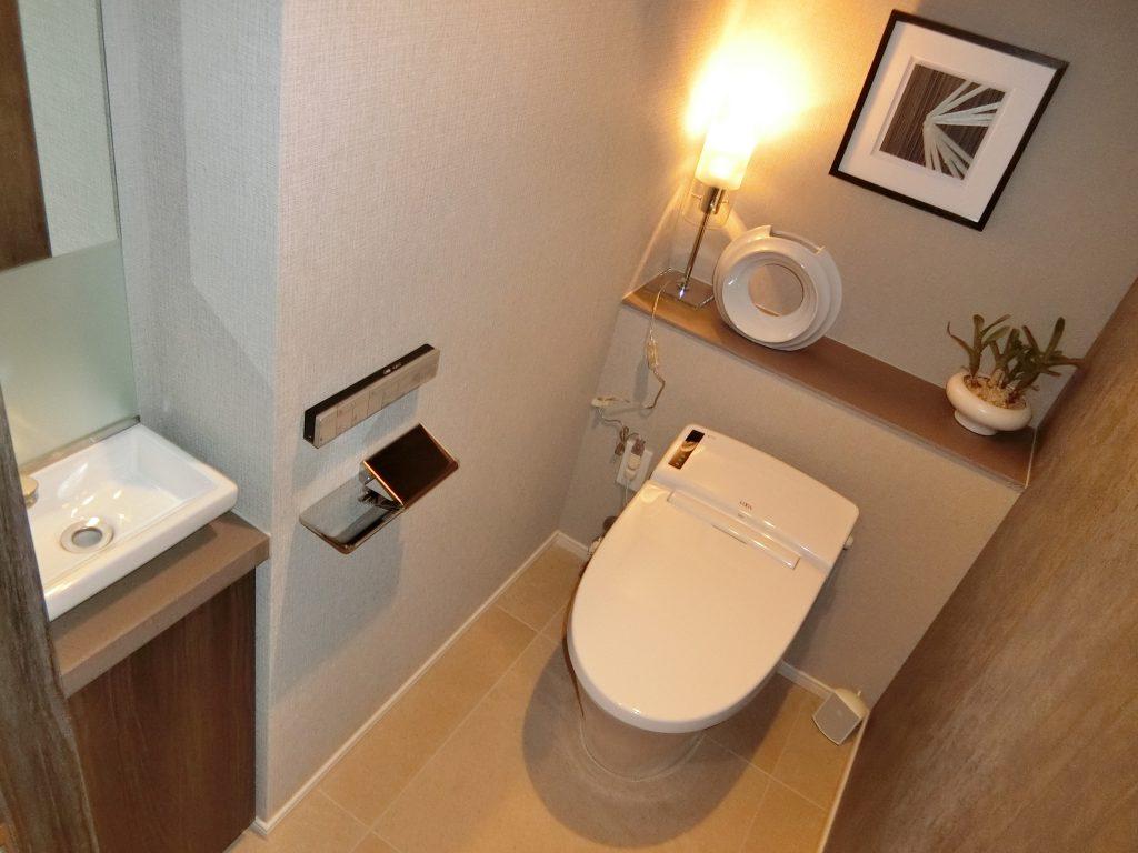 「ディアナコート池田山公園」のモデルルームのトイレ