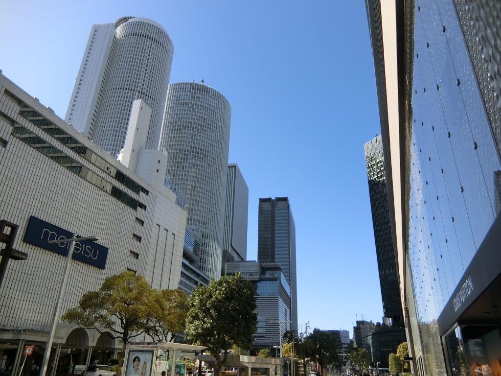 相次ぐ再開発で、街が大きく変貌した「名古屋」駅前(2021年4月撮影)