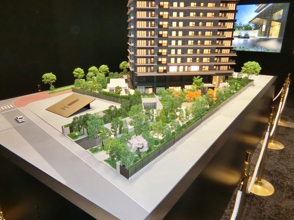 「NAGOYA the TOWER」の完成予想模型 エントランスアプローチ