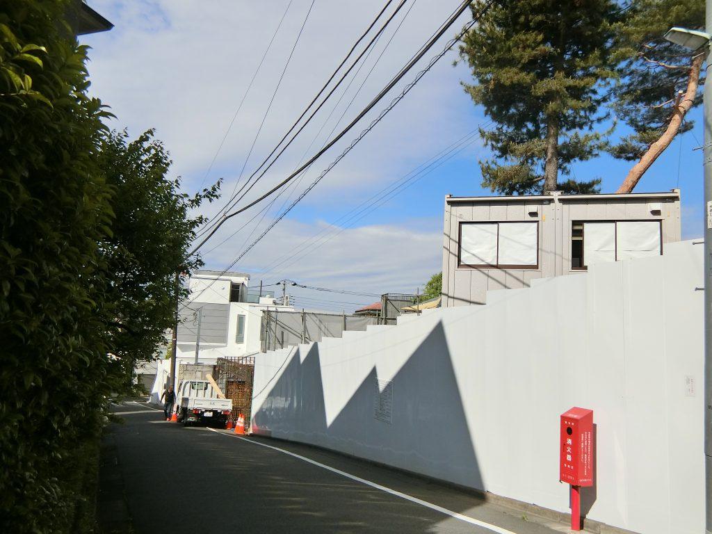 「ザ・パークハウス 自由が丘ディアナガーデン」の建設地