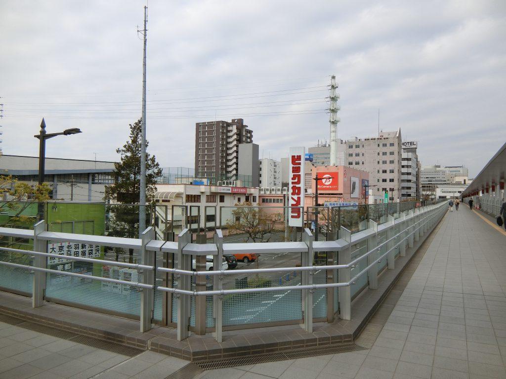 「高崎駅東口栄町地区第一種市街地再開発事業」の開発予定地(左)