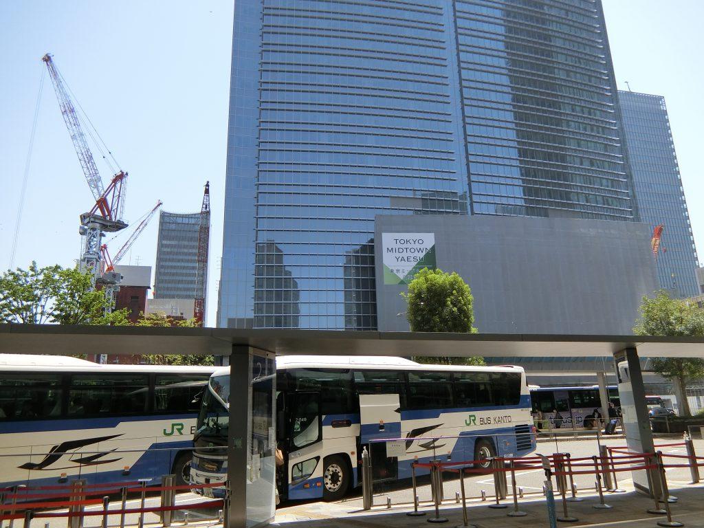 建設中の「東京ミッドタウン八重洲」(2021年4月撮影)