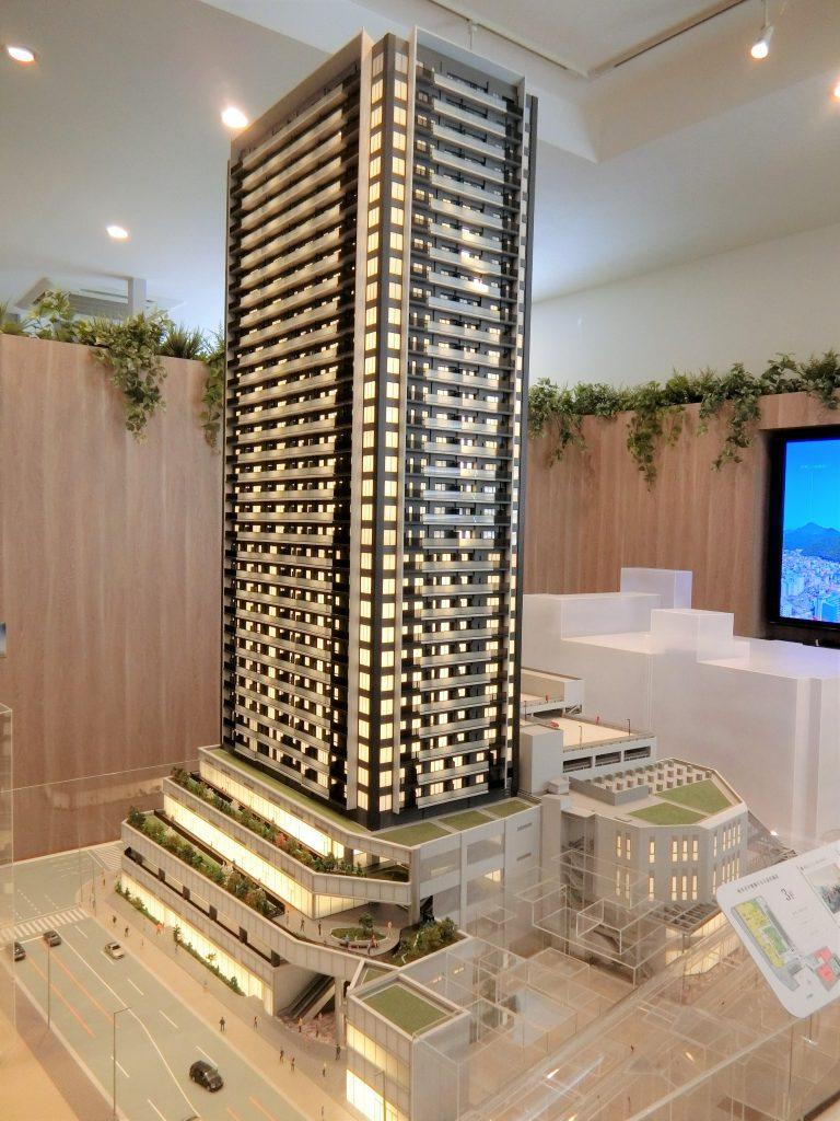 「ライオンズ岐阜プレミストタワー35」の完成予想模型