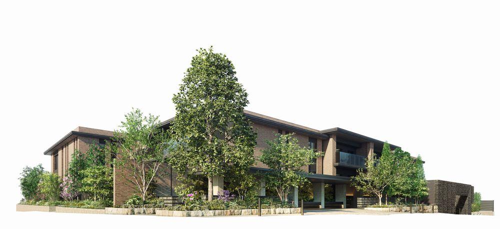 「ザ・パークハウス 自由が丘ディアナガーデン」の外観完成予想図