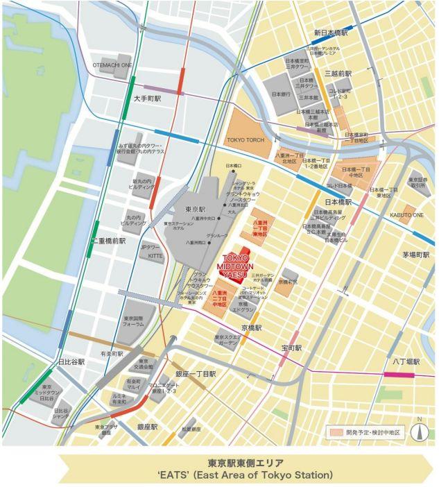 東京ミッドタウン八重洲周辺図