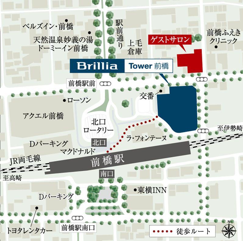 「Brillia Tower 前橋」の現地案内図