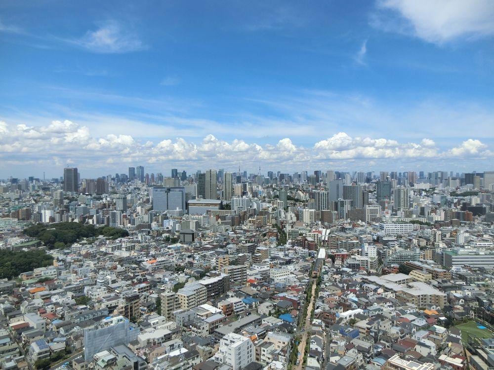シティタワー武蔵小山のスカイラウンジからの景色(都心方面)