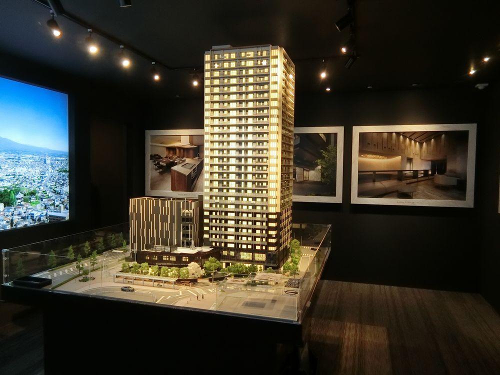 ブリリアタワー前橋の完成予想模型