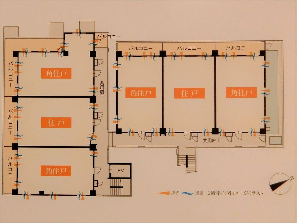 ミオカステーロ鶴見フロンティアの2階平面図