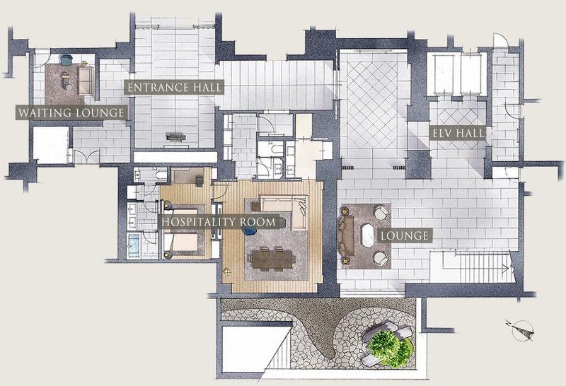 ザ・パークハウス 高輪松ヶ丘の地下1階部分イラスト