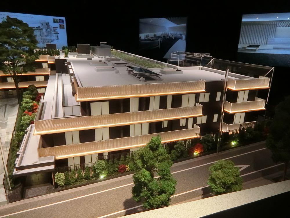 「ザ・パークハウス グラン 神山町」の完成予想模型
