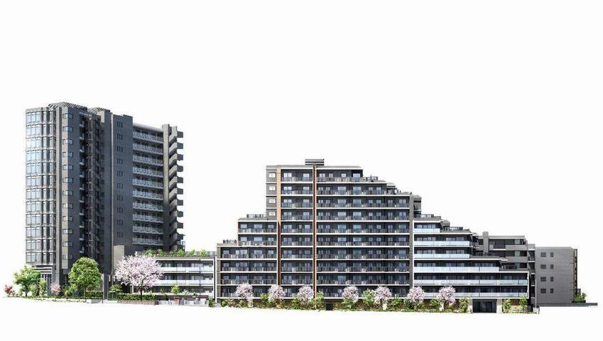 「ザ・パークハウス 板橋大山大楠ノ杜」の完成予想図