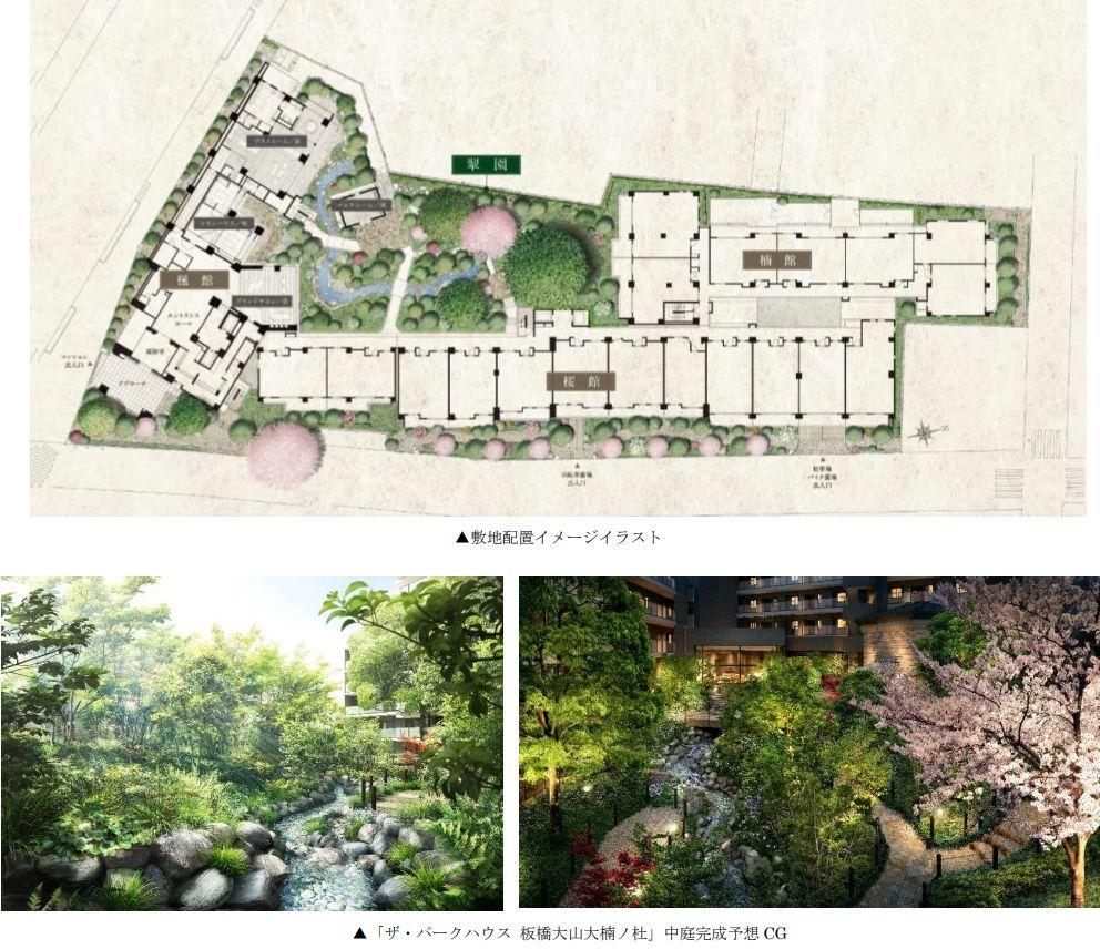 「ザ・パークハウス 板橋大山大楠ノ杜」の敷地計画