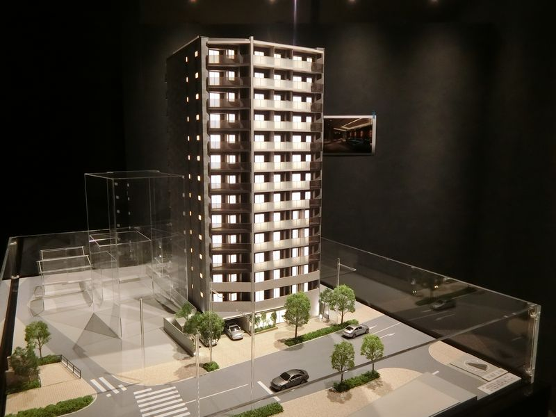 「ザ・パークハウス 赤羽フロント」の完成予想模型(全体)