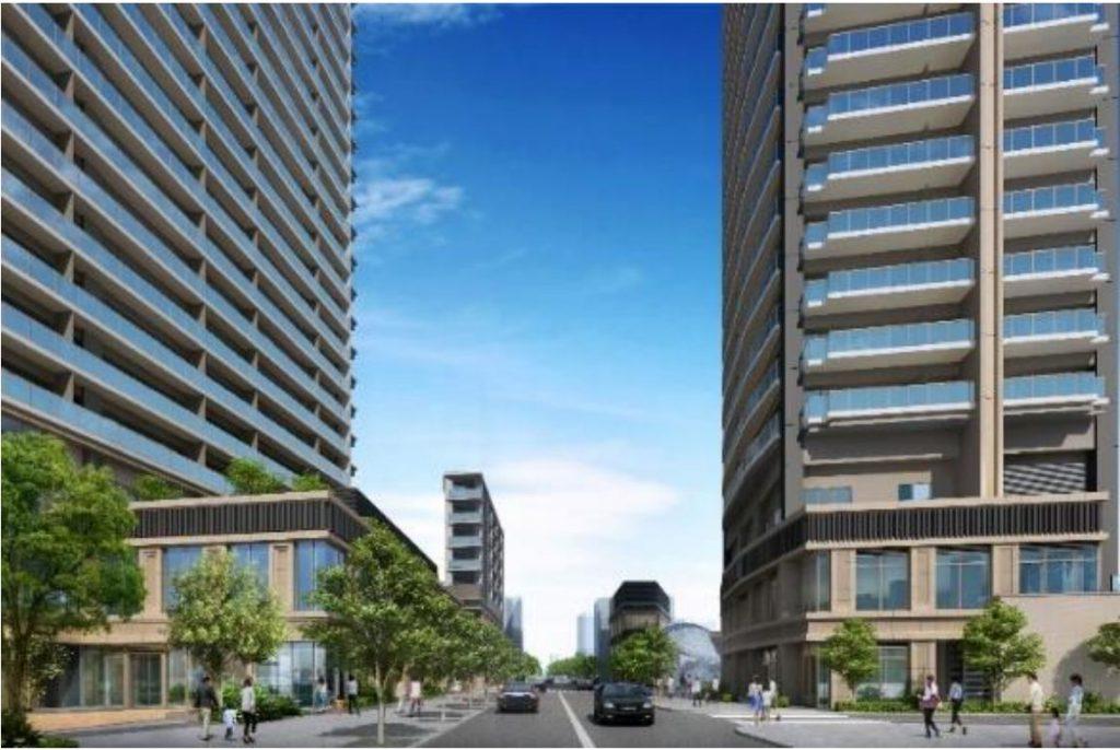 「大山町クロスポイント周辺地区第一種市街地再開発事業」の街路イメージ図