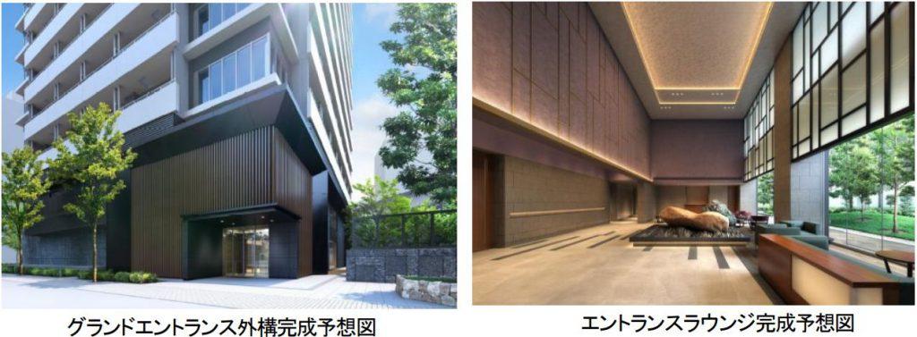 ブリリアタワー浜離宮の共用部の完成予想CG