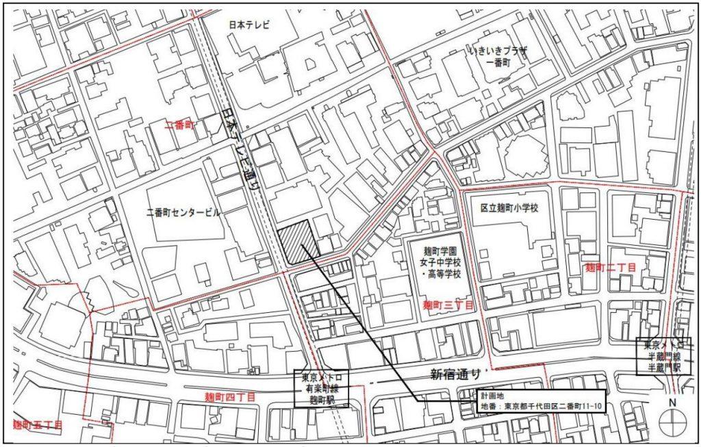 現地の位置図